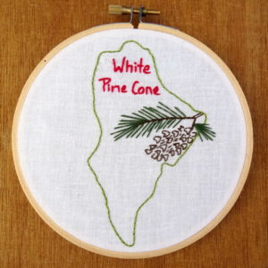 Maine State Flower Embroidery Pattern {White Pine Cone}