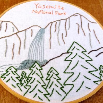 Yosemite National Park Embroidery Pattern