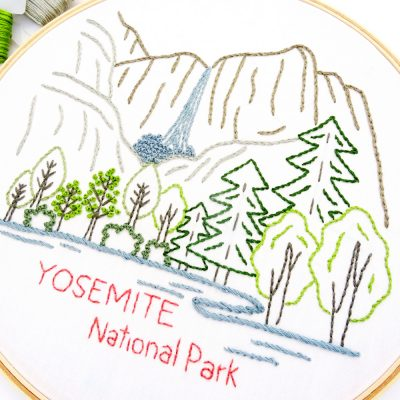 Yosemite National Park Hand Embroidery Pattern