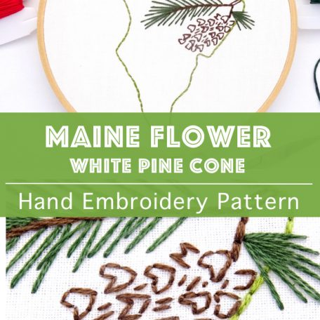 maine-state-flower-hand-embroidery-pattern-white-pine-cone