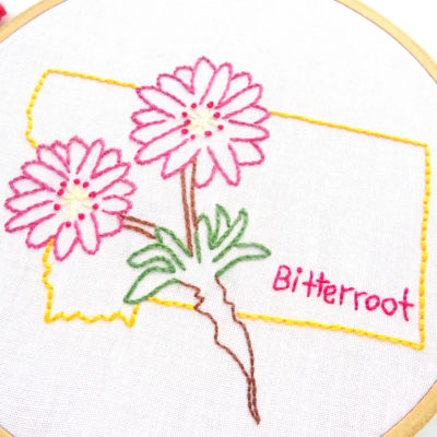 Montana State Hand Embroidery Pattern {Bitterroot}