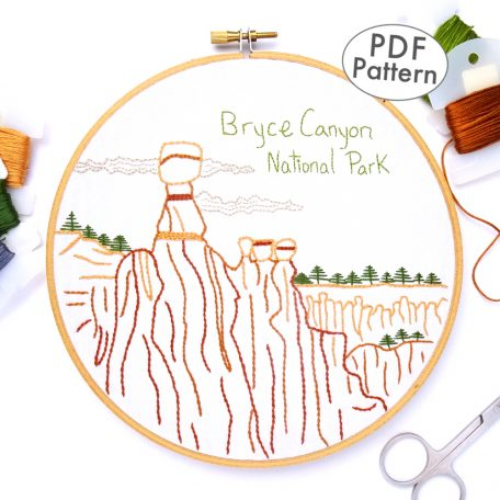 Bryce Canyon National Park Hand Embroidery Pattern