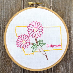 Montana State Flower Hand Embroidery Patten {Bitterroot}