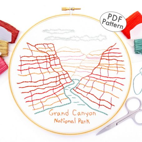 Grand Canyon National Park Hand Embroidery Pattern