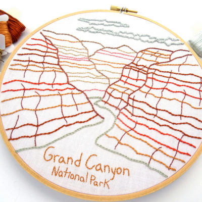 Grand Canyon National Park Embroidery Pattern