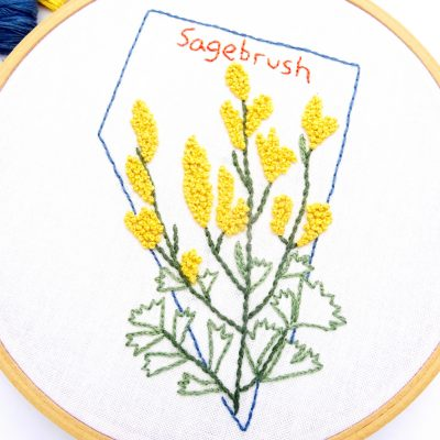 Nevada Flower Hand Embroidery Pattern {Sagebrush}