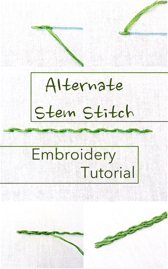 Alternate Stem Stitch Embroidery Tutorial