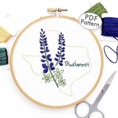 Texas Flower Hand Embroidery Pattern {Bluebonnet}