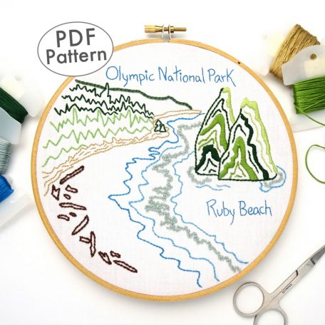 Olympic National Park Embroidery Pattern