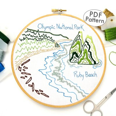 Olympic National Park Hand Embroidery Pattern