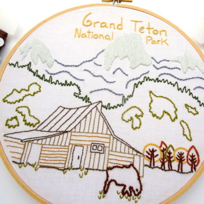 Grand Teton National Park Embroidery Pattern