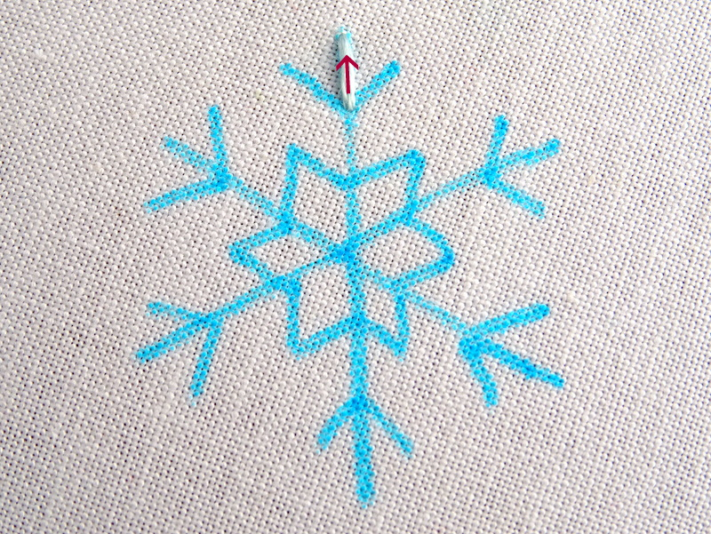 Simple Snowflake Embroidery Pattern
