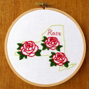 New York State Embroidery Pattern {Rose}