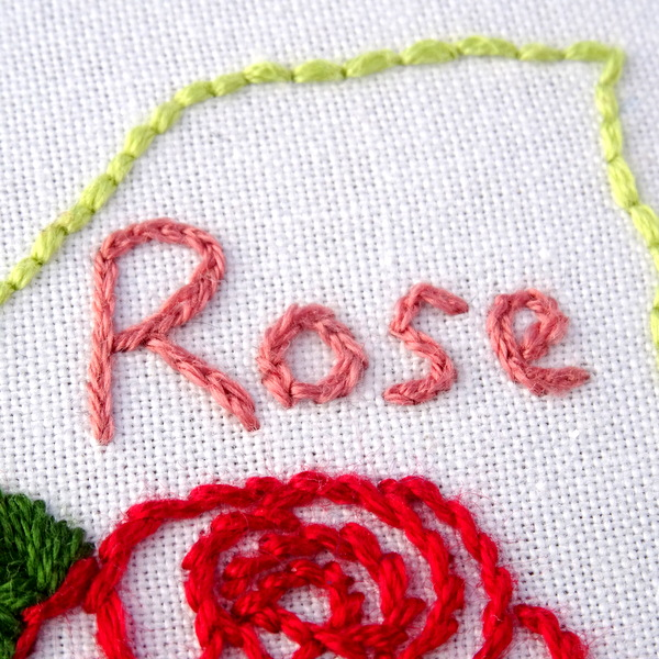 New york state hand embroidery pattern rose wandering