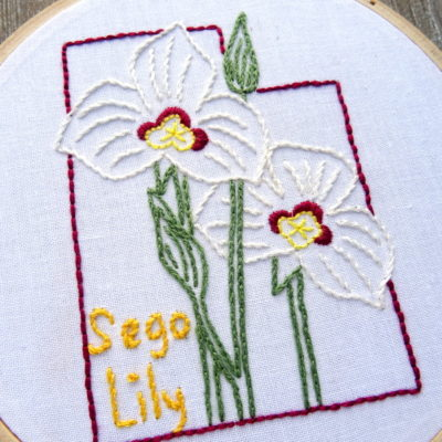 Utah State Flower Hand Embroidery Patten {Sego Lily}
