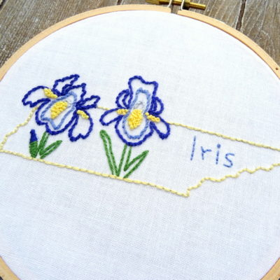 Tennessee State Flower Hand Embroidery Patten {Iris}