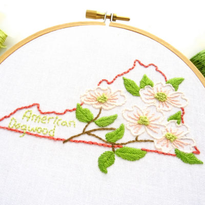 Virginia Flower Hand Embroidery Pattern {American Dogwood}
