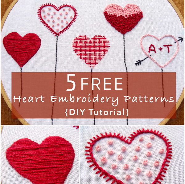 Heart Embroidery Patterns