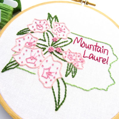 Pennsylvania State Flower Hand Embroidery Pattern {Mountain Laurel}