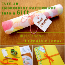 Embroidery Pattern PDF Gift