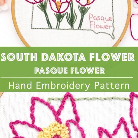 south-dakota-flower-hand-embroidery-pattern-pasque-flower