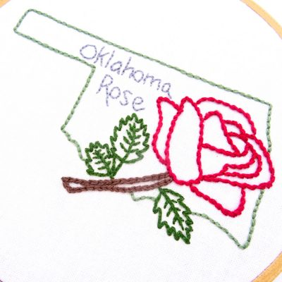 Oklahoma Flower Hand Embroidery Pattern {Oklahoma Rose}