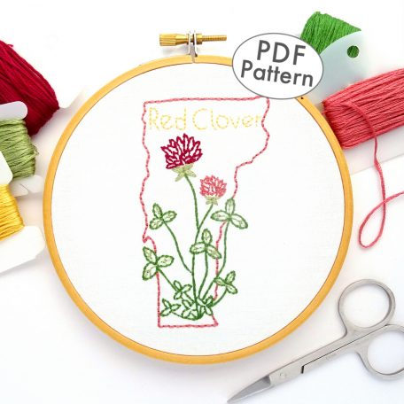 Vermont State Flower Hand Embroidery Pattern