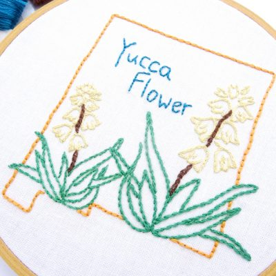 New Mexico Flower Hand Embroidery Pattern {Yucca Flower}