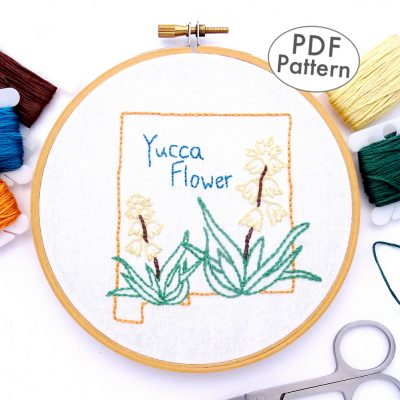 New Mexico Flower Hand Embroidery Pattern {New Mexico}