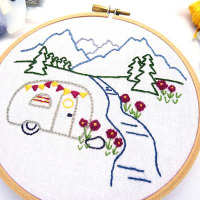 Mountain Meadow DIY Hand Embroidery Pattern