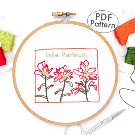 Wyoming Flower Hand Embroidery Pattern {Indian Paintbrush}