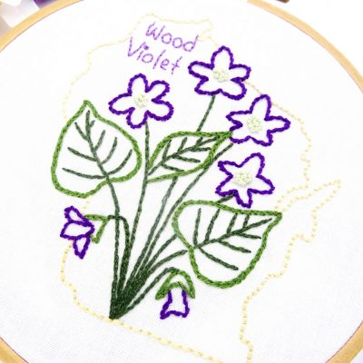 Wisconsin Flower Hand Embroidery Pattern {Wood Violet}