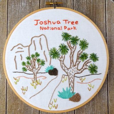 Joshua Tree National Park Hand Embroidery Pattern