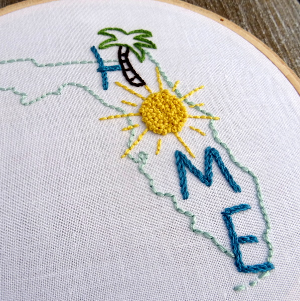 Florida State HOME Hand Embroidery Pattern