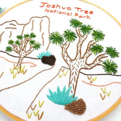 Joshua Tree National Park Hand Embroidery Pattern