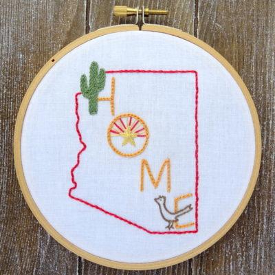 Arizona State HOME Hand Embroidery Pattern