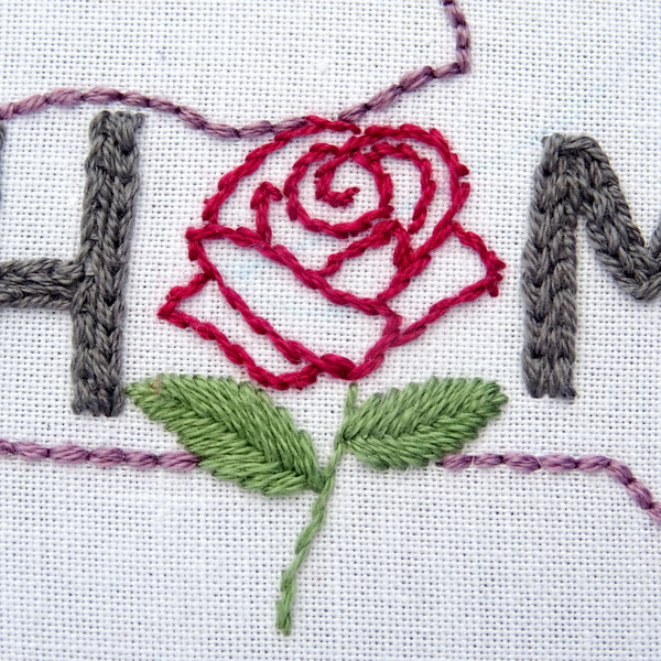 New York State HOME Hand Embroidery Pattern