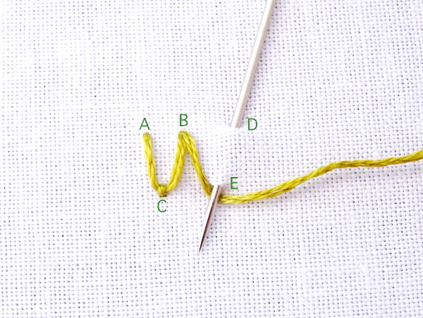 Fly Stitch Embroidery Tutorial