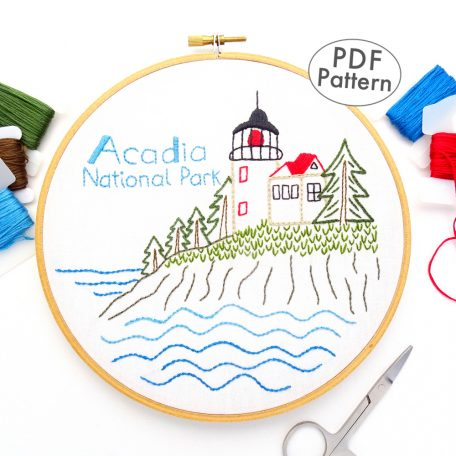 Acadia National Park Hand Embroidery Pattern