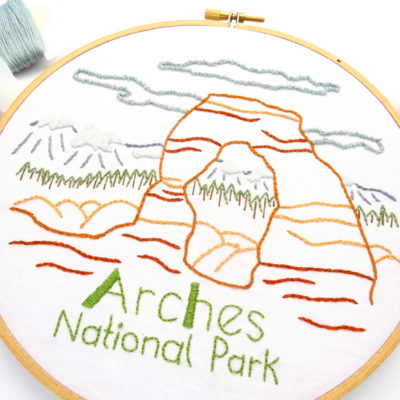 Arches National Park Hand Embroidery Pattern