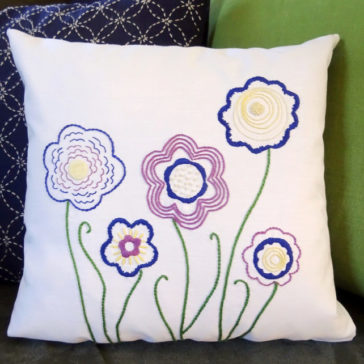 FREE Doodle Flower Embroidery Pattern