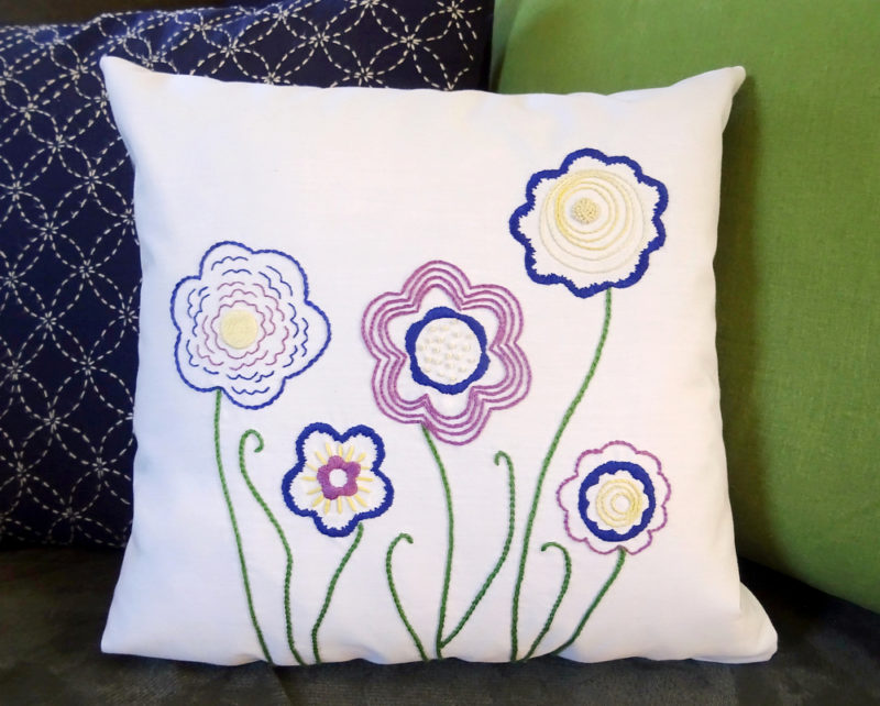 Free Doodle Flower Embroidery Pattern Wandering Threads Embroidery