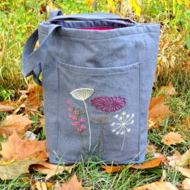 Wildflower Embroidery Tote Bag Pattern