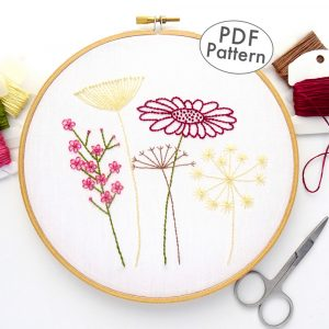 Wildflower Hand Embroidery Pattern