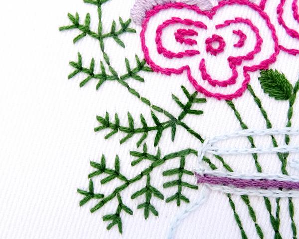 Wildflower Bouquet Hand Embroidery Pattern