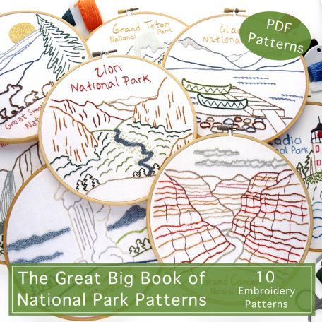 National Park Hand Embroidery Patterns Ebook