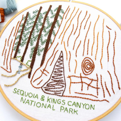 Sequoia & Kings Canyon National Park Hand Embroidery Pattern