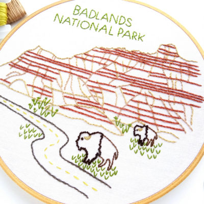 Badlands National Park Hand Embroidery Pattern