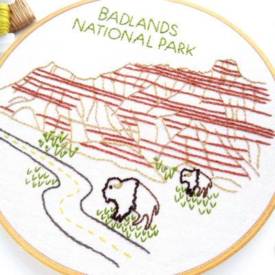 Badlands National Park Hand Embroidery Pattern