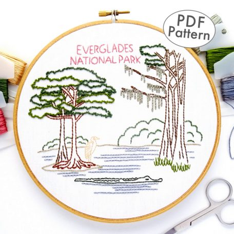 Everglades National Park Hand Embroidery Pattern